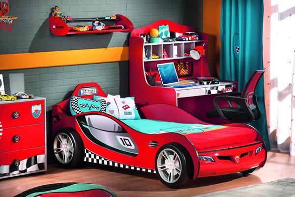 Cilek dormitorios infantiles tem ticos habitaci n coche deportivo decopeques - Camas infantiles de cars ...