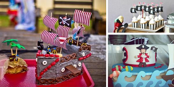 pastel tarta torta fiesta cumpleaños pirata infantil