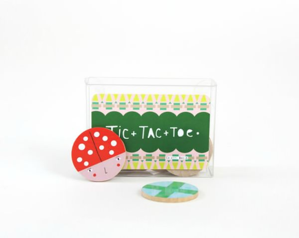 On-The-Go Wooden Tic-Tac-Toe Game by Colette Bream