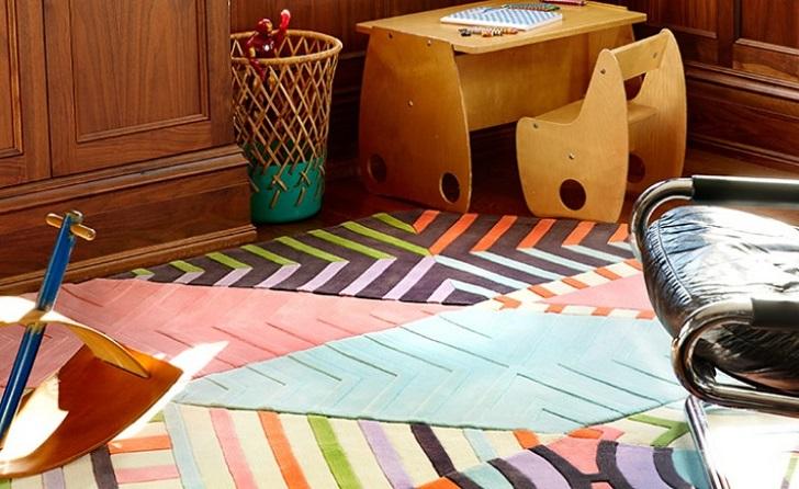 Alfombras infantiles modulares de kinderground for Alfombras motivos geometricos