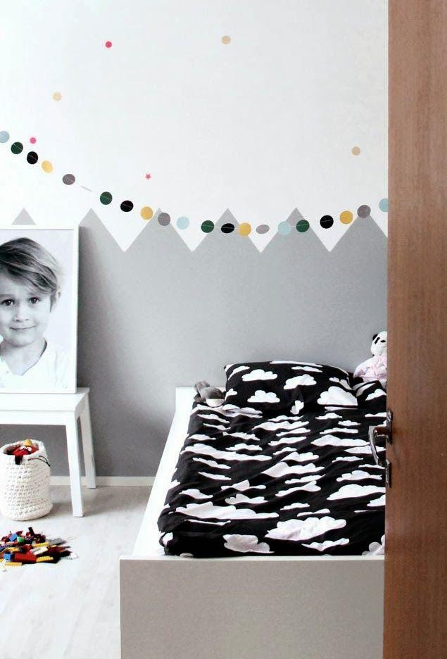 Jugando con los colores 8 habitaciones infantiles for Black and white kids room