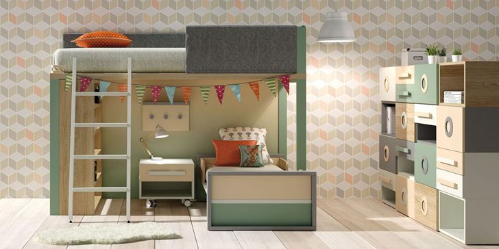 Muebles juveniles e infantiles de lagrama decopeques - Habitaciones con literas juveniles ...