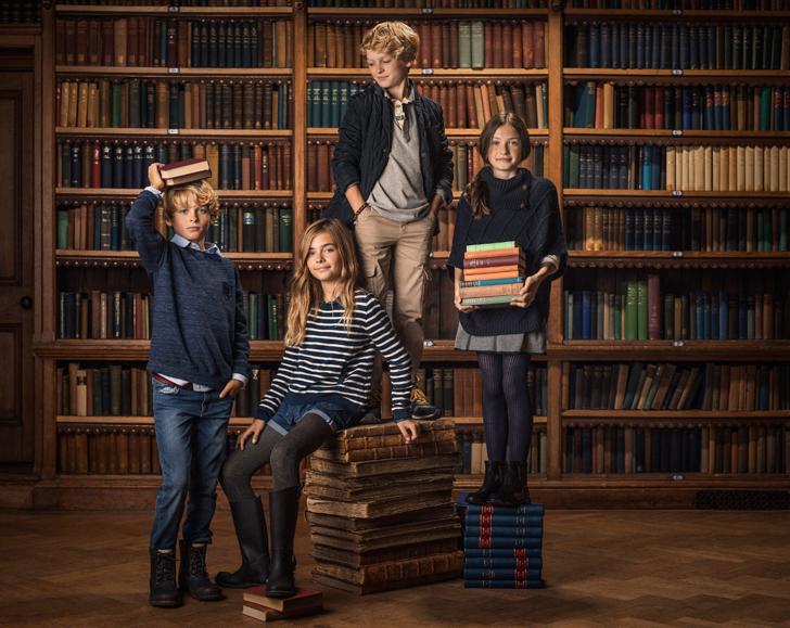 Moda infantil  estilo college con Massimo Dutti otoño-invierno 14/15