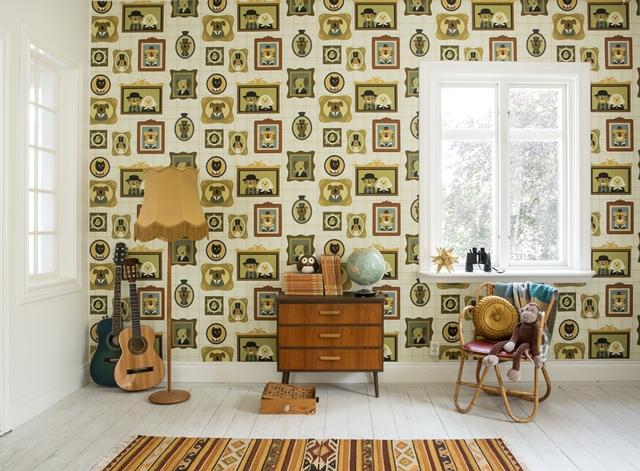 Papeles pintados para ni os fabel decopeques - Papeles pintados para muebles ...