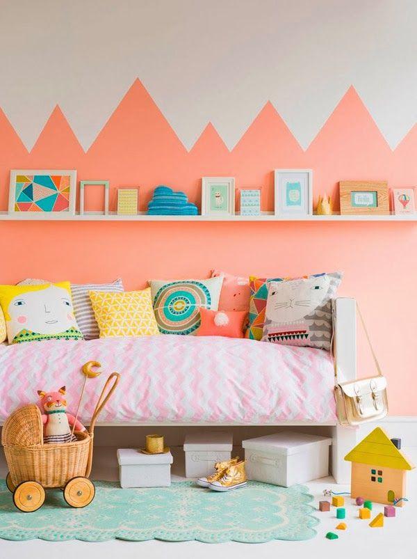 Jugando con los colores 8 habitaciones infantiles decoradas con pintura decopeques Paredes decoradas con pintura