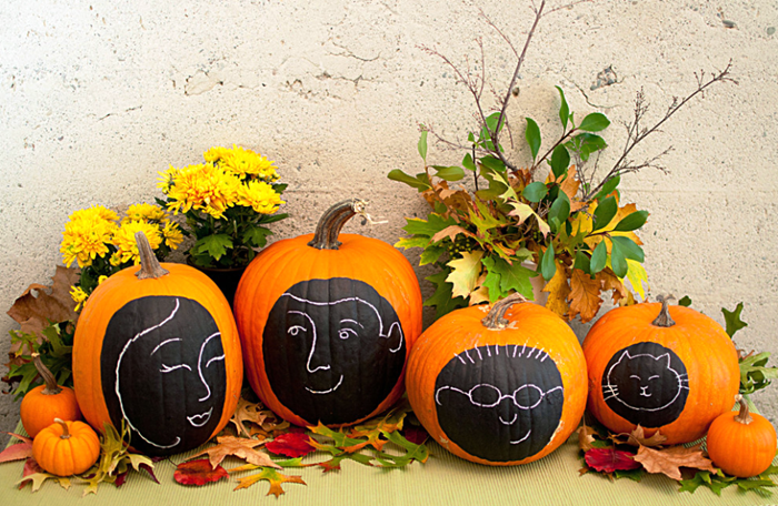Calabazas decoradas con chalk paint decopeques - Calabazas pintadas y decoradas ...