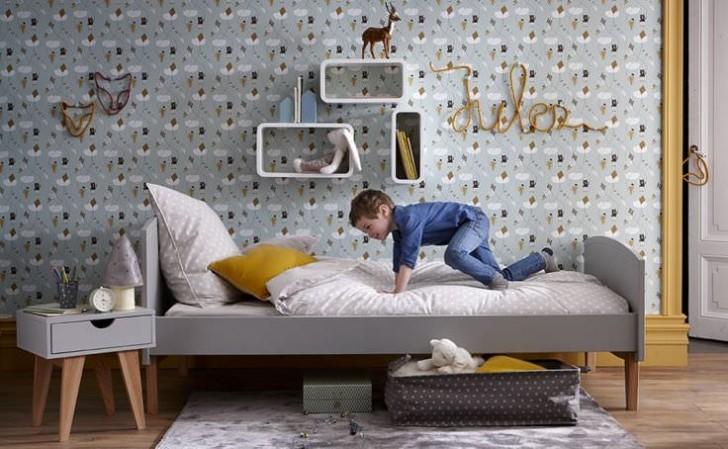 10 dormitorios infantiles ideales en tonos grises decopeques for Dormitorios industriales