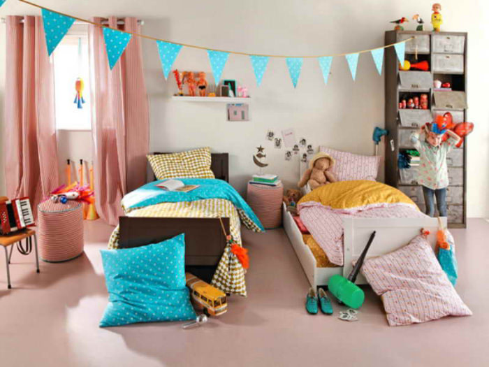 5 dormitorios infantiles compartidos para hermanos for Habitacion nino y nina