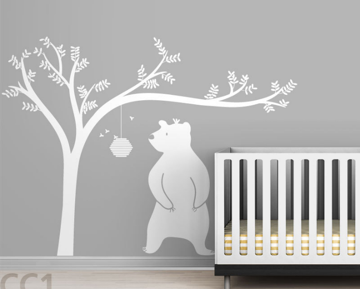 Vinilos infantiles de animales y rboles for Vinilos cuartos bebe