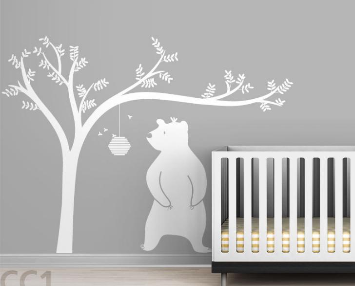 vinilo-infantil-oso-arbol