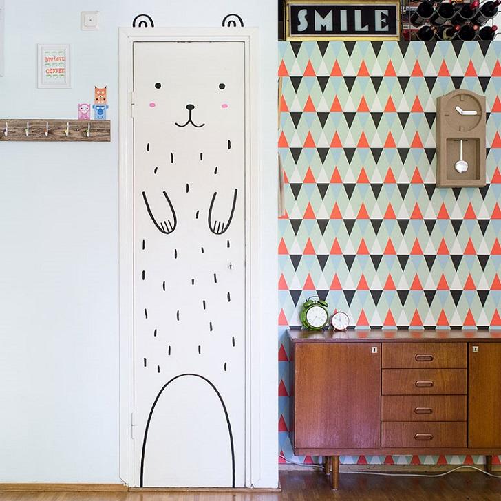 Vinilos infantiles con caras sonrientes de made of sunday - Decorar cristales de puertas ...
