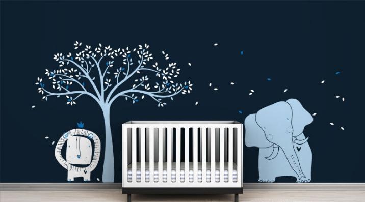 vinilos-infantiles-leon-elefante