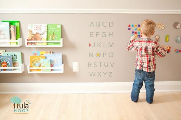 Diy estanter a para cuentos y libros con el especiero de - Estanteria pared infantil ...