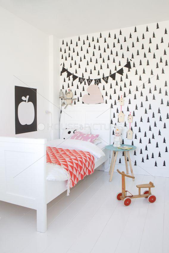 Una delicada habitación nórdica