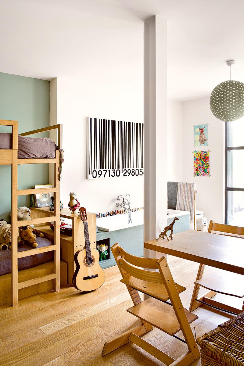 Las habitaciones juveniles de una paisajista parisina en Paris