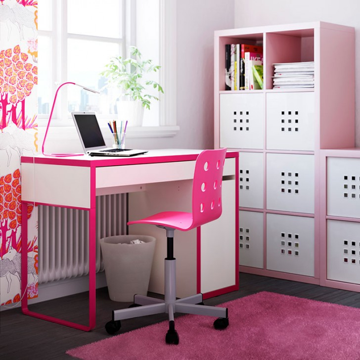 escritorios infantiles con la mesa micke de ikea decopeques. Black Bedroom Furniture Sets. Home Design Ideas