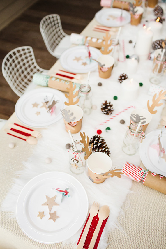 Decoraci n de una mesa de navidad para ni os - Decoracion de navidad para ninos ...
