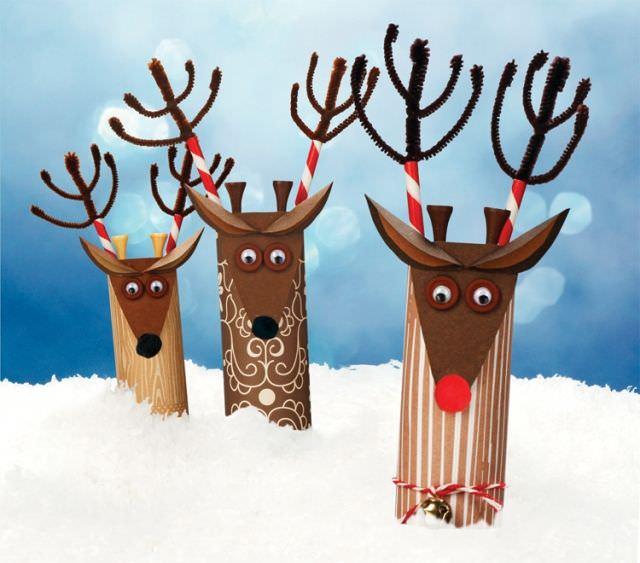 7 manualidades infantiles de navidad con rollos de wc - Manualidad ninos navidad ...