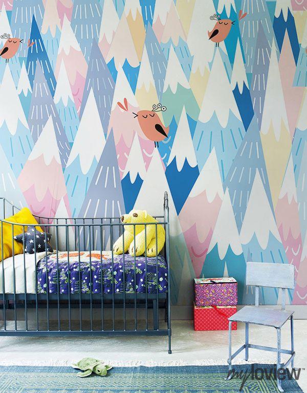 mural-montañas-bebe-colores