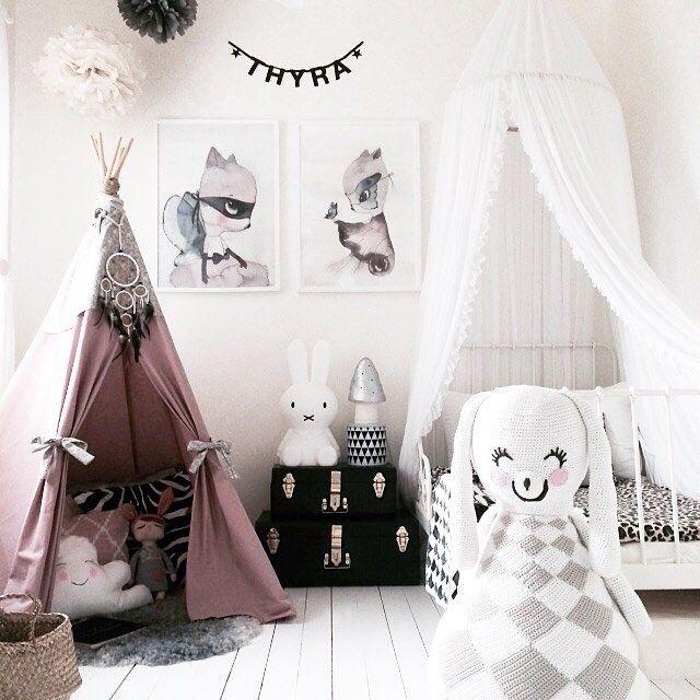 14 habitaciones infantiles en rosa for Decoracion habitacion nina gris y rosa