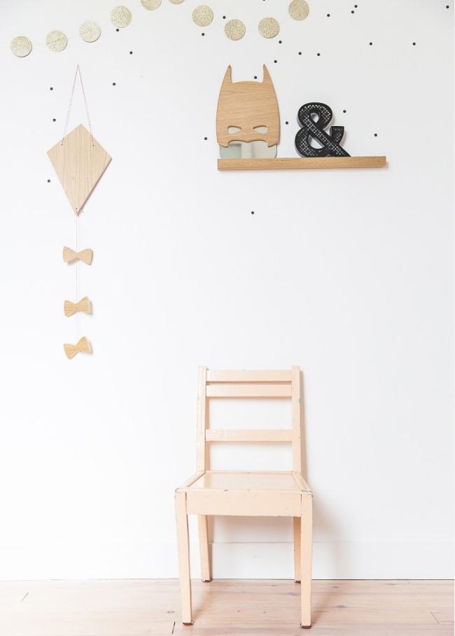 Detalles ideales en madera para las habitaciones infantiles