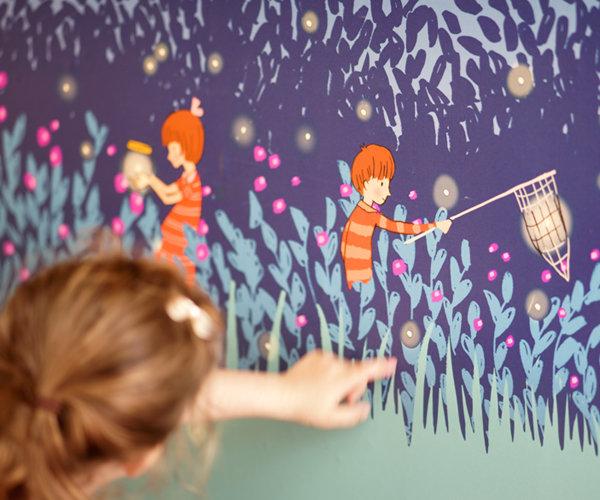 papel-pintado-infantil-luciernagas