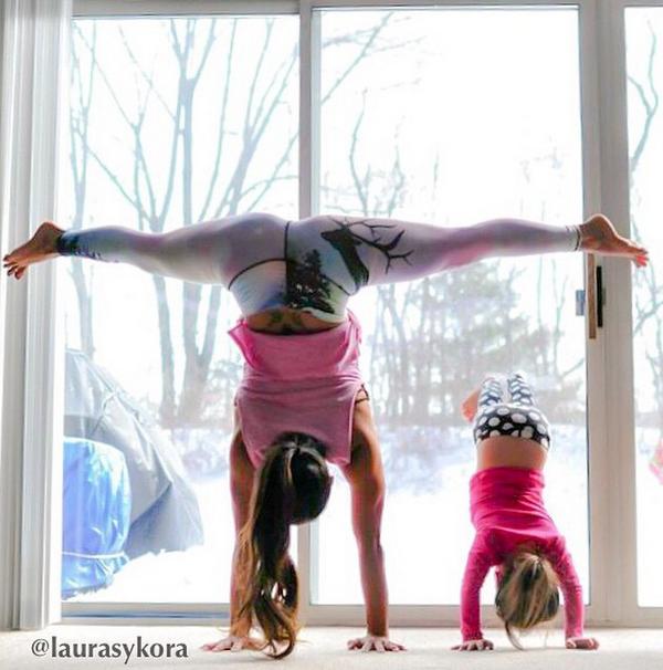 Inspiración Instagram, mamás y yoga