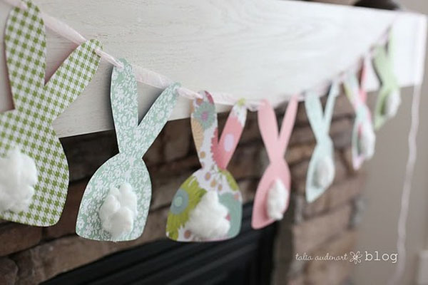manualidades-de-pascua-guirnalda-de-conejos