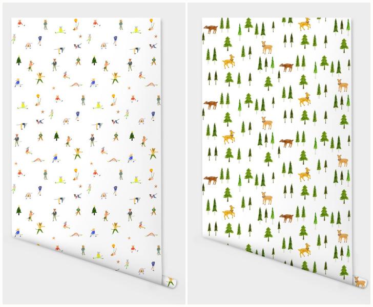 papel-pintado-niños-bosque