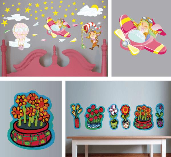Vinilos infantiles stikets para paredes bonitas for Vinilos armarios infantiles