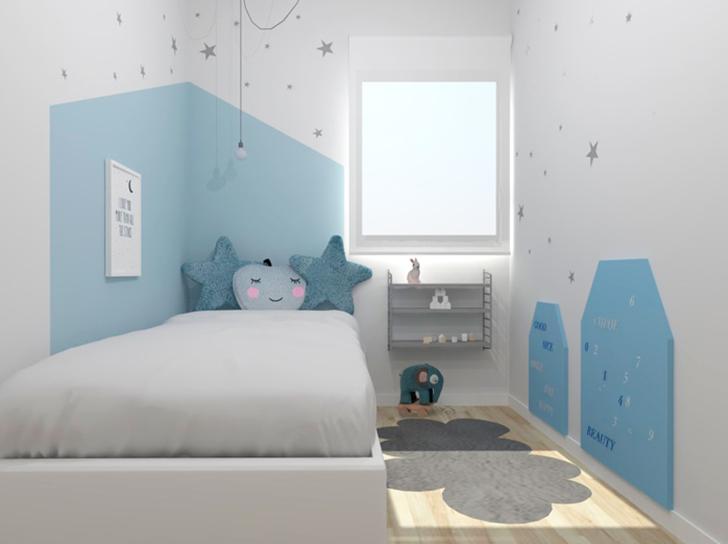 Habitación infantil azul estrellas toctoc infantil
