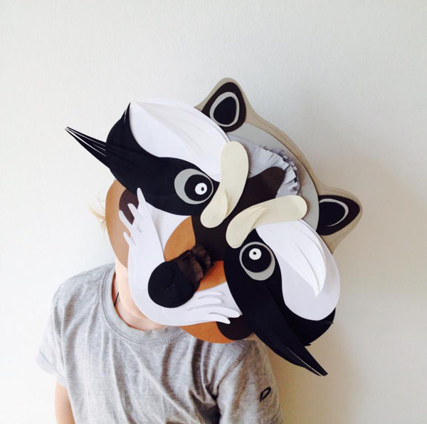 Diy con papel de katya kozlova for Caretas disfraces