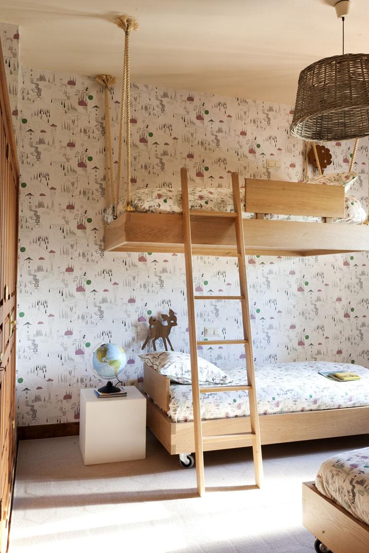 Dormitorio infantil para 3 hermanos  DecoPeques