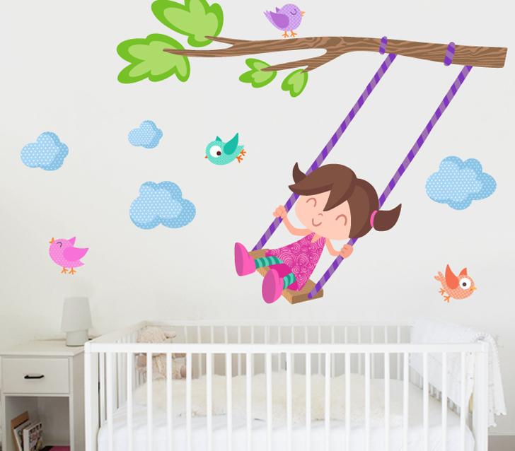 Vinilos infantiles para el cuarto del beb for Vinilos infantiles nina