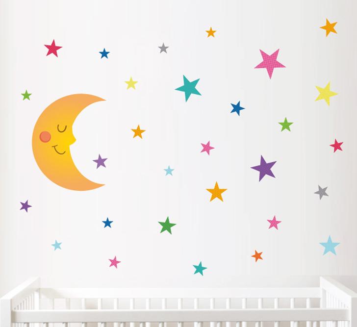 vinilo-infantil-luna-con-estrellas