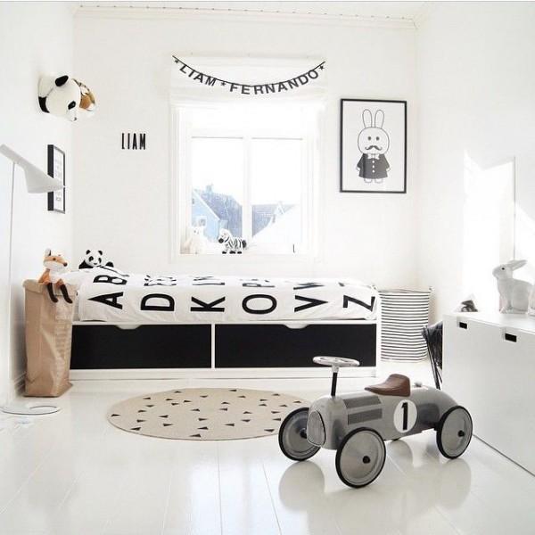 6 habitaciones para ni os en tonos grises - Pintura habitaciones ninos ...