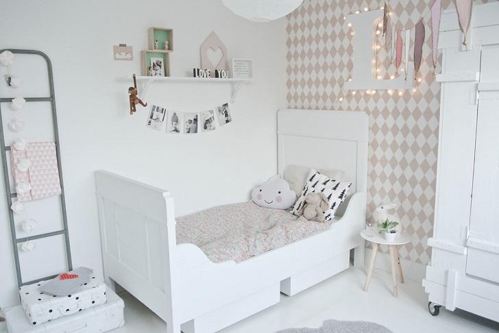 Dormitorio infantil en estilo n rdico para lola - Ver habitaciones infantiles ...