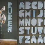 Letras de papel para decorar