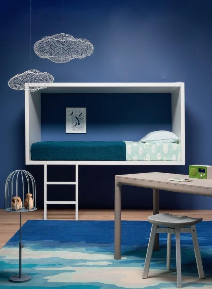 Habitaciones infantiles en azul para ni os for Colores de paredes minimalistas
