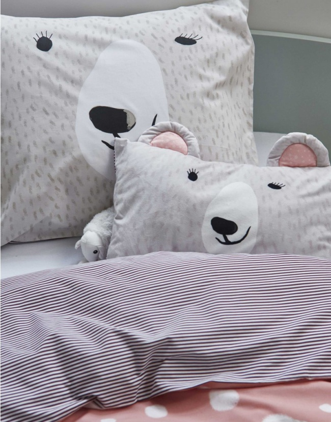 Textiles de cama infantiles en estilo escandinavo - Cojines grandes para cama ...