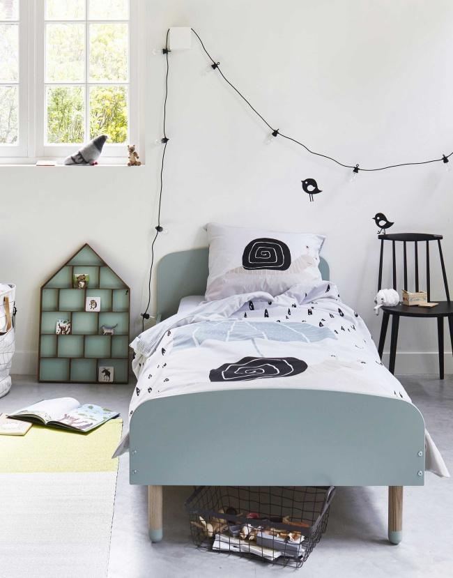textiles de cama infantiles en estilo escandinavo