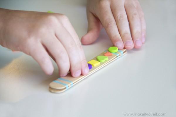 harmonicas con palos de helado decoracion