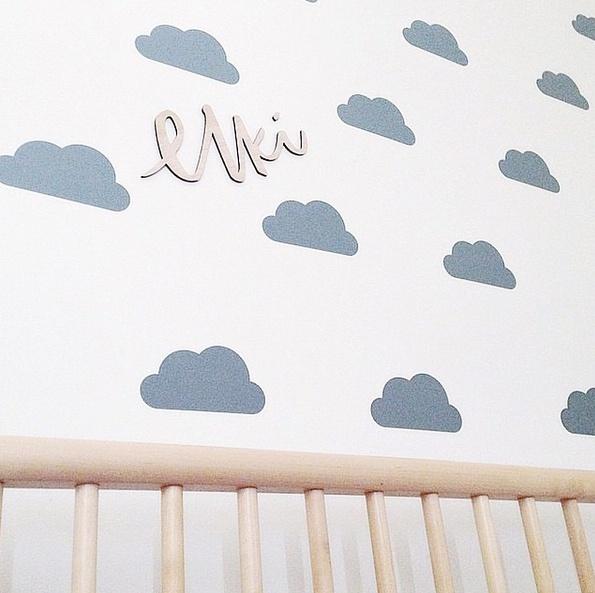 Detalles para decorar una habitaci n de beb - Letras bebe decoracion ...