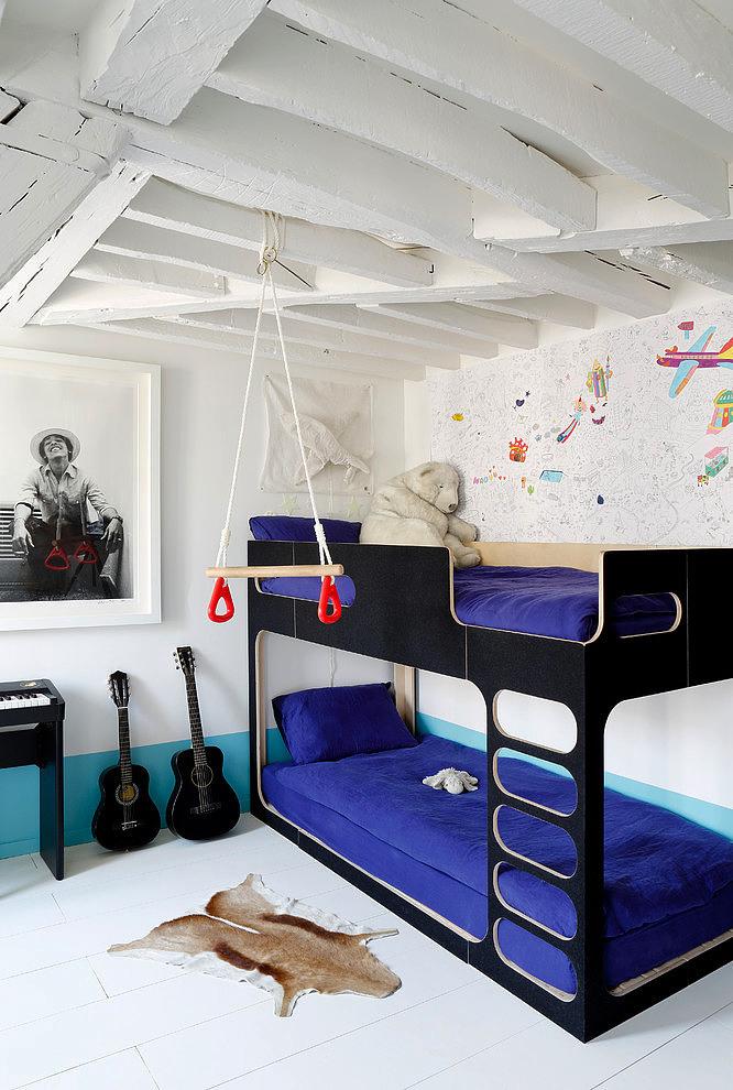 Habitaciones infantiles en azul para ni os for Cuartos decorados azul