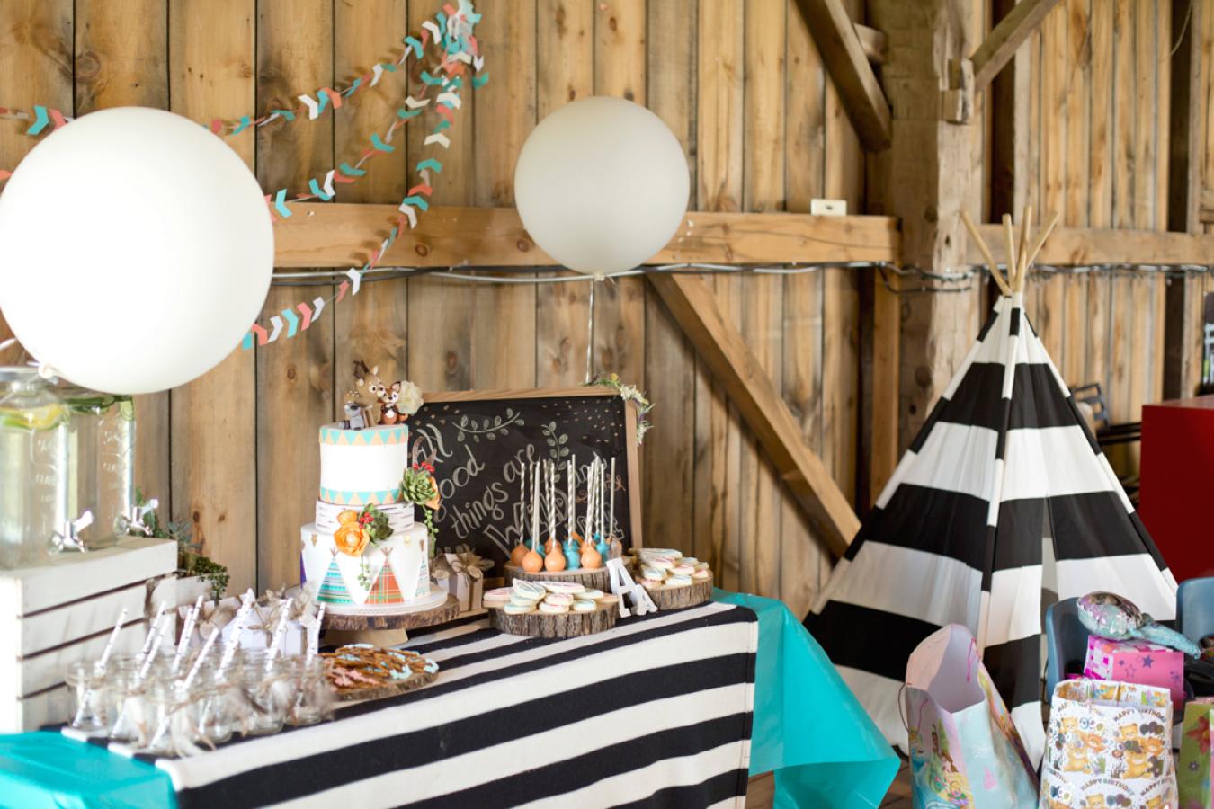 Oda a la naturaleza fiesta infantil con ambientaci n - Ideas originales decoracion ...