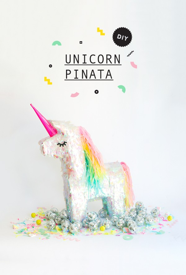 Pi ata de unicornio brillante para decorar tus fiestas for Cuarto de unicornio