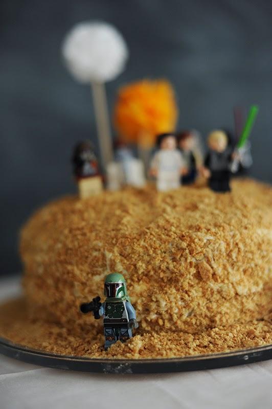 tarta de cumpleaños de star wars para niños