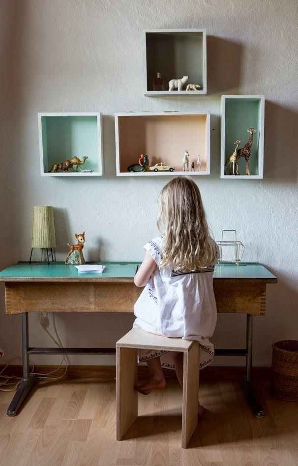 Mesas de estudio vintage for Mesas estudio ninos