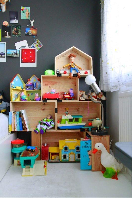 6 cajas estanter as diy para dormitorios infantiles - Estanterias para guardar juguetes ...