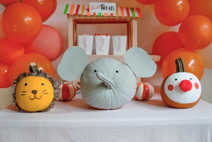 Decoraci n de calabazas de halloween f cil decopeques - Decoracion calabazas para halloween ...